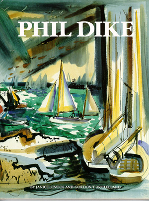 PHIL DIKE  by: Lovoos & McClelland  Phil Dike has dramatic sense of pictorial design. He had illustrated in color in this biography of this California artist. [/caption] [caption id=